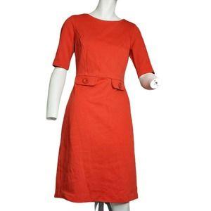 Boden Audrey Ponte Roma Textured Sheath Dress Sz 6